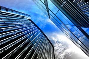 blue sky glass office